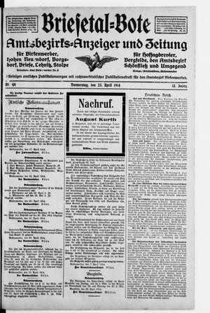 Briesetal-Bote vom 23.04.1914