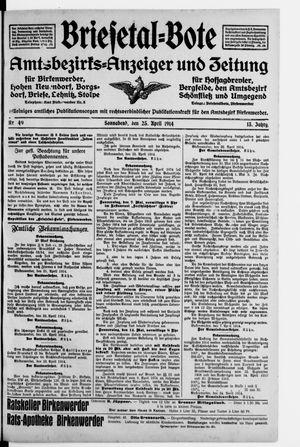 Briesetal-Bote vom 25.04.1914