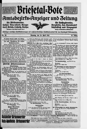 Briesetal-Bote vom 28.04.1914