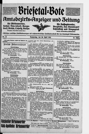 Briesetal-Bote on Apr 30, 1914