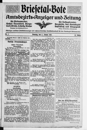Briesetal-Bote vom 05.01.1915