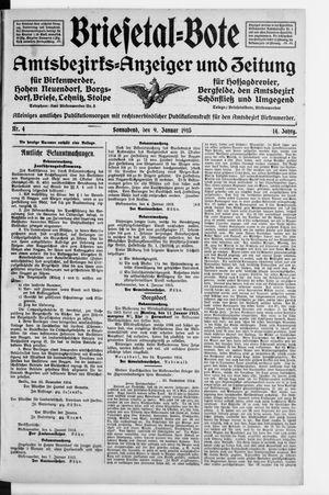 Briesetal-Bote on Jan 9, 1915
