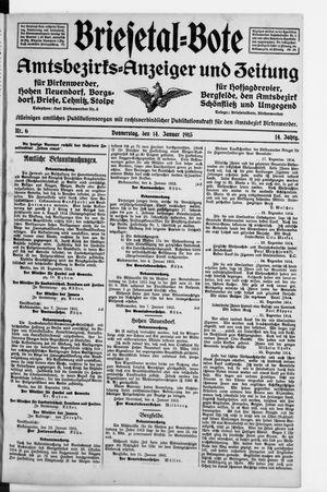 Briesetal-Bote vom 14.01.1915