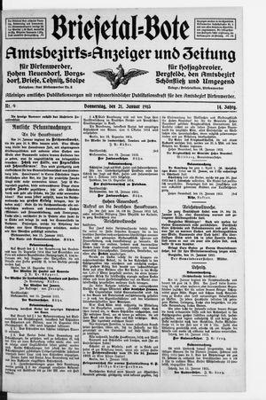 Briesetal-Bote vom 21.01.1915