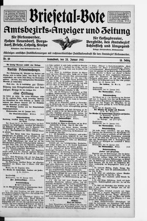 Briesetal-Bote on Jan 23, 1915