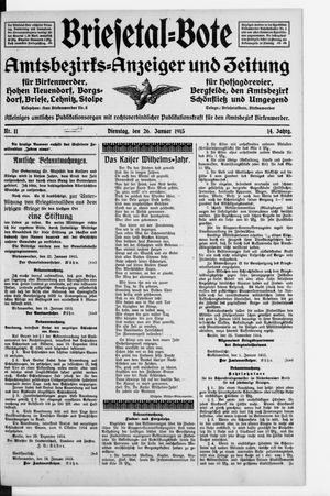 Briesetal-Bote vom 26.01.1915
