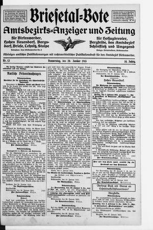 Briesetal-Bote vom 28.01.1915