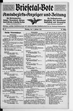 Briesetal-Bote vom 09.02.1915