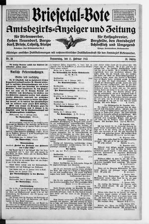 Briesetal-Bote vom 11.02.1915
