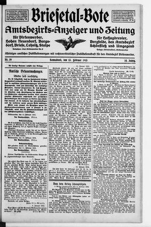 Briesetal-Bote vom 13.02.1915