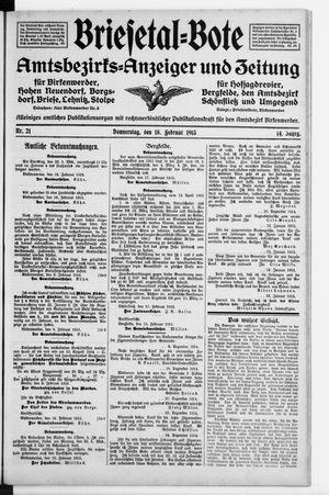 Briesetal-Bote vom 18.02.1915