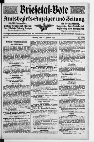 Briesetal-Bote vom 23.02.1915