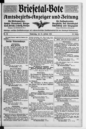 Briesetal-Bote vom 25.02.1915