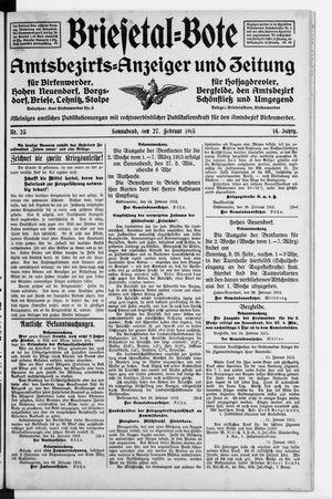 Briesetal-Bote vom 27.02.1915