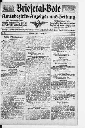 Briesetal-Bote vom 02.03.1915