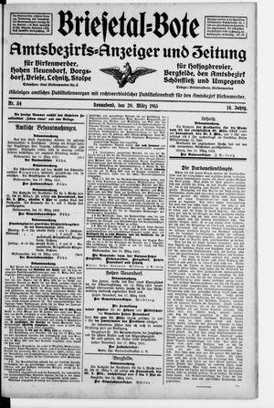 Briesetal-Bote vom 20.03.1915