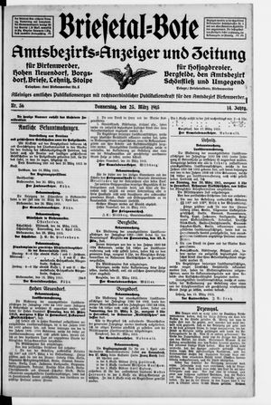 Briesetal-Bote vom 25.03.1915