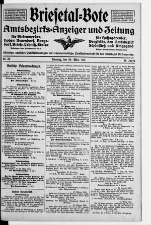 Briesetal-Bote on Mar 30, 1915