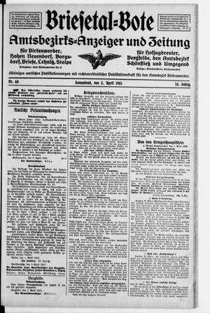 Briesetal-Bote vom 03.04.1915