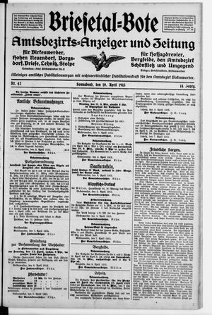 Briesetal-Bote vom 10.04.1915