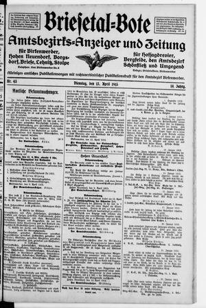 Briesetal-Bote on Apr 13, 1915