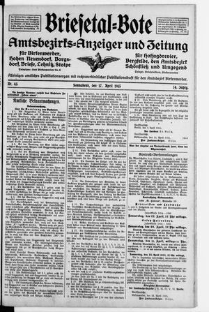Briesetal-Bote vom 17.04.1915