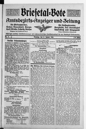 Briesetal-Bote vom 11.01.1916