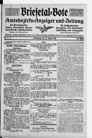 Briesetal-Bote vom 13.01.1916