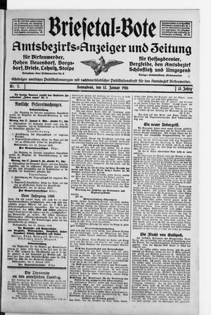 Briesetal-Bote vom 15.01.1916
