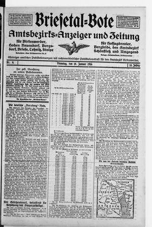 Briesetal-Bote vom 18.01.1916