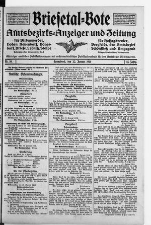 Briesetal-Bote vom 22.01.1916