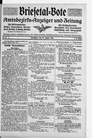 Briesetal-Bote on Jan 29, 1916