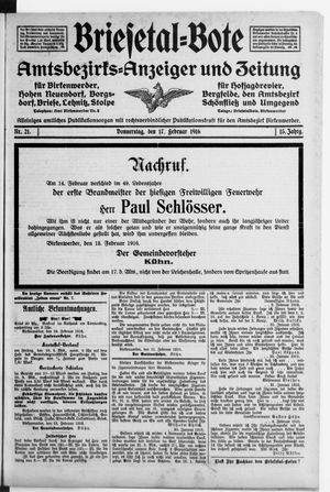 Briesetal-Bote vom 17.02.1916