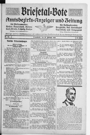 Briesetal-Bote vom 19.02.1916