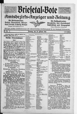 Briesetal-Bote vom 29.02.1916