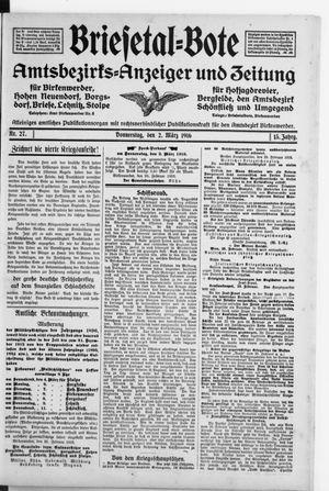 Briesetal-Bote vom 02.03.1916