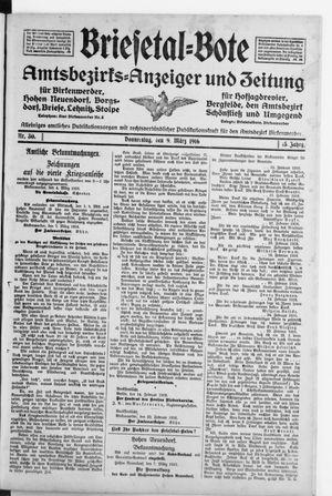 Briesetal-Bote vom 09.03.1916