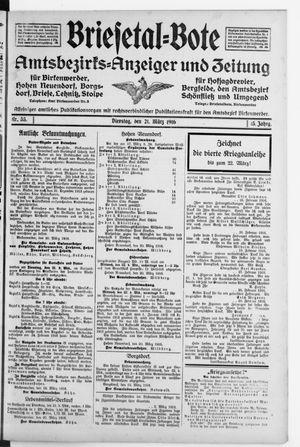 Briesetal-Bote vom 21.03.1916