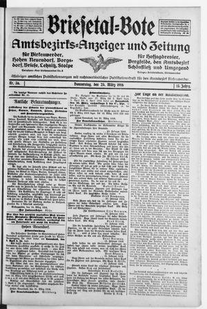 Briesetal-Bote vom 23.03.1916