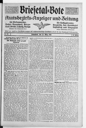 Briesetal-Bote on Mar 25, 1916