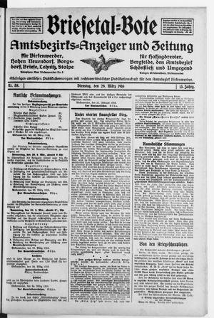 Briesetal-Bote vom 28.03.1916