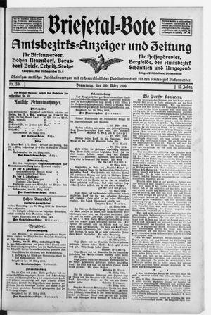 Briesetal-Bote vom 30.03.1916