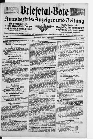 Briesetal-Bote vom 01.04.1916