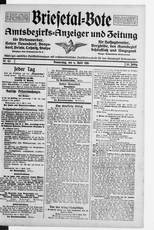 Briesetal-Bote vom 06.04.1916