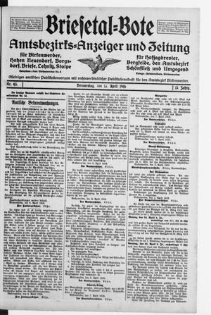 Briesetal-Bote vom 13.04.1916