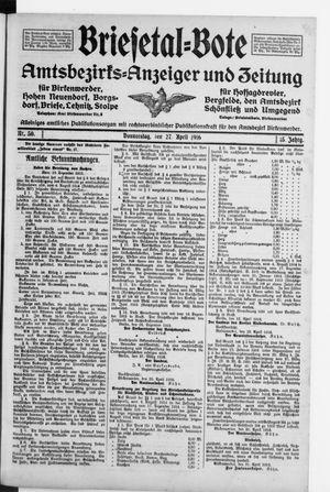 Briesetal-Bote vom 27.04.1916