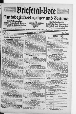Briesetal-Bote on Apr 29, 1916