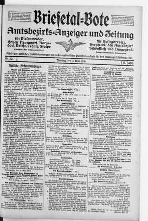 Briesetal-Bote vom 02.05.1916