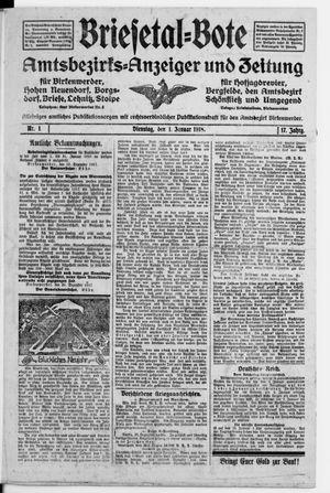 Briesetal-Bote vom 01.01.1918