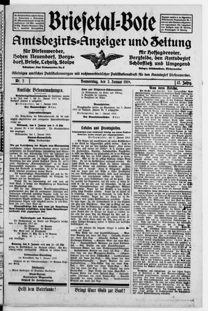 Briesetal-Bote vom 03.01.1918